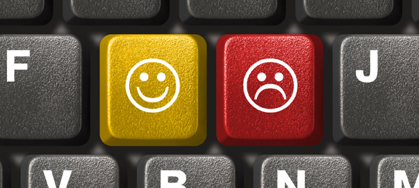 Positive thinking keyboard