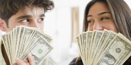 love white cute COUPLE-MONEY